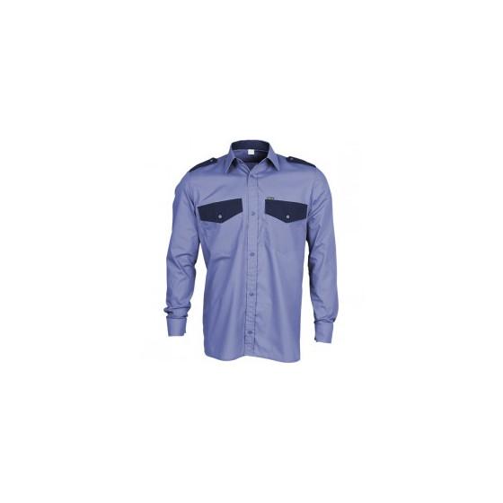 Рубашка Охранник, длинный рукав, синяя