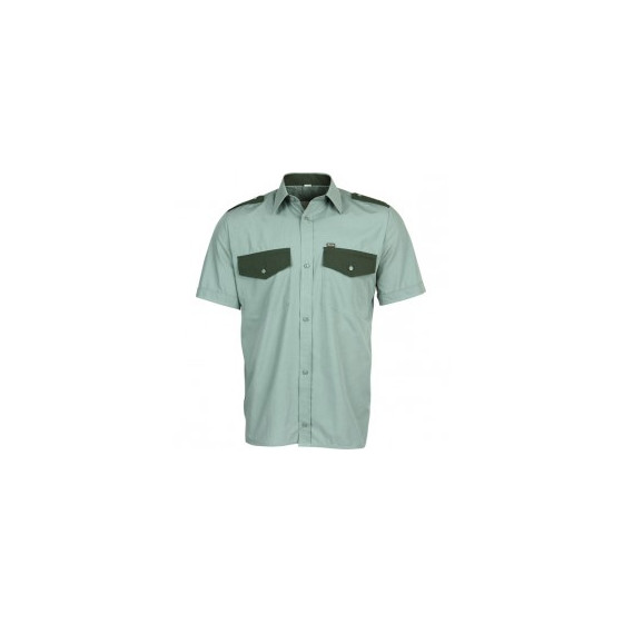 Рубашка Охранник, короткий рукав, зеленая