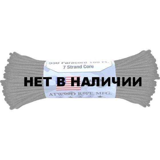 Паракорд Atwoodrope 550 Parachute Cord 30м titanium
