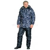 Куртка Полюс, камуфляж серая удлиненная, ткань Оксфорд