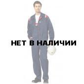 Костюм мужской Авангард с полукомбинезоном, ткань смесовая (т.син.+ кр.отд. и СОП)