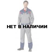 Костюм Мегаполис, ткань смесовая с брюками (сер.+т.син+кр.кант)