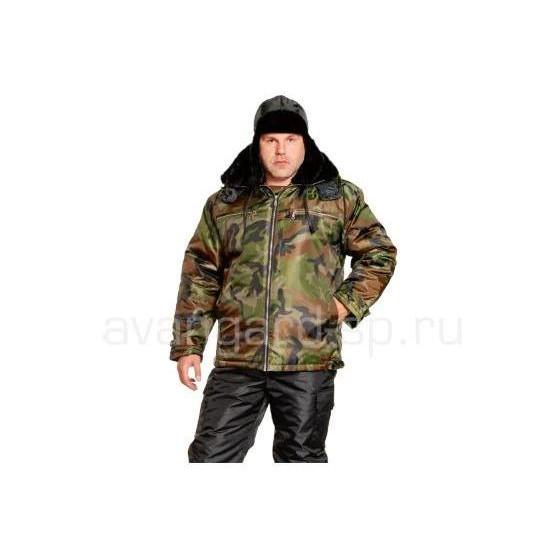Куртка Пилот утеп. (ткань Оксфорд), камуфляжзел.