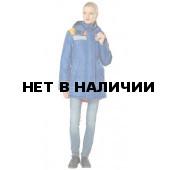 Куртка Ангара (василек+оранж.) с СОП женская с капюшоном