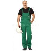 Полукомбинезон Профессионал зеленый (ткань смес)