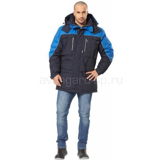 Куртка Вега, ткань смесовая(т.син.+василек)