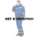 Костюм Метеор, ткань смесовая василек+черный