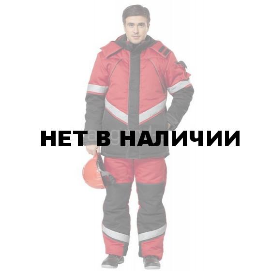 Костюм Каскад утепленный (ткань смесовая) красн.+ черн.
