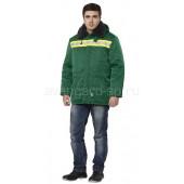 Куртка Бригада утепленная (зел.+жел.)