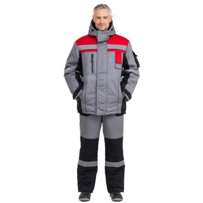 Куртка Виват утепленная мужская цвет серый+черный+красный