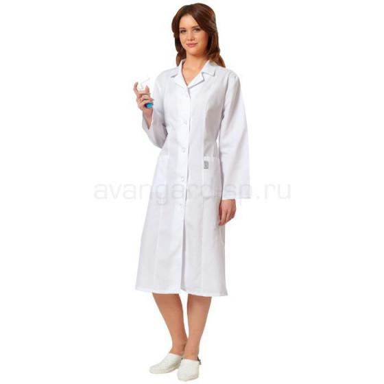 Халат женский с рельефом белый