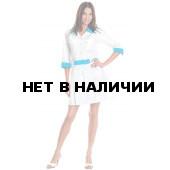 Халат медицинский женский Каприз (цв.бел.+св.голубой)