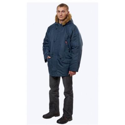 Куртка Аляска(Пионер) удлененная, ткань нейлон (т.синяя)