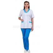 Комплект одежды медицинской женской Нимфа (блуза и брюки) (вас.+гол.)