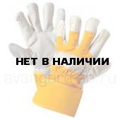 Перчатки ЮКОН кожаные комбинированные