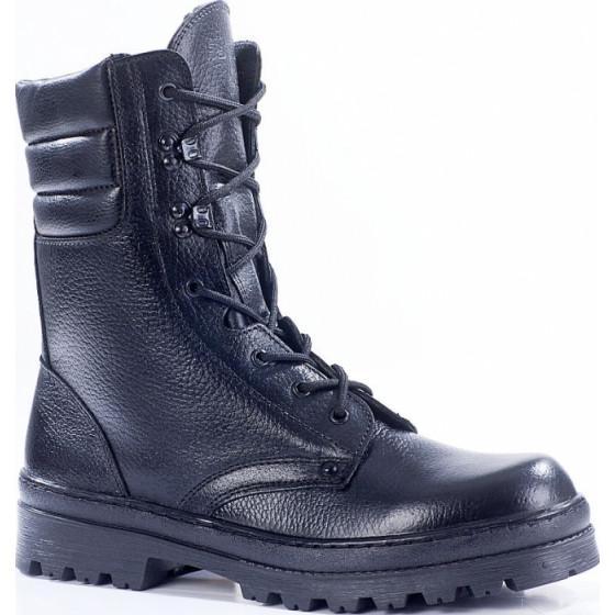 Зимние ботинки с высокими берцами ОМОН кожа 700 искусственный мех