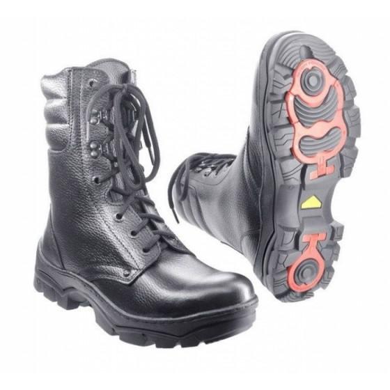Зимние ботинки с высокими берцами ОМОН кожа овчина ALPI ROTOR 30