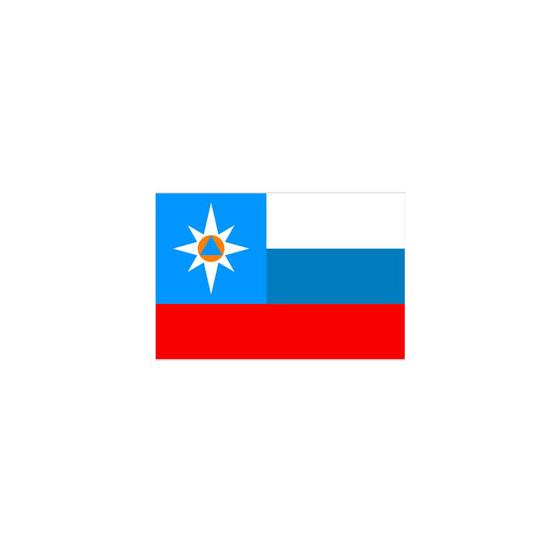 Флаг МЧС триколор
