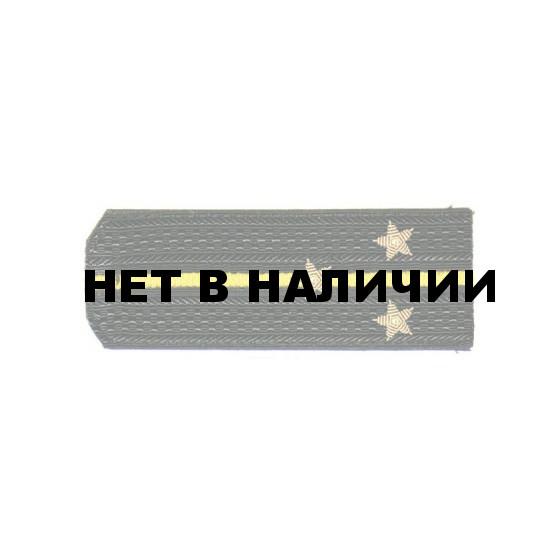 Погоны ВМФ Старший лейтенант вышитые латунь