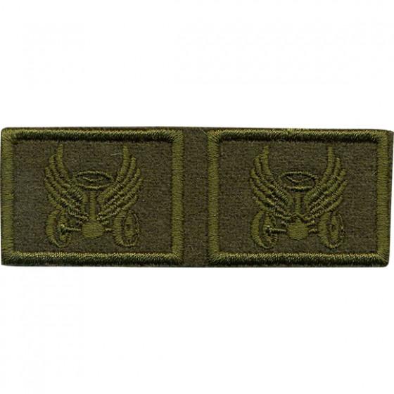 Эмблема петличная Автомобильные войска нового образца полевая вышивка