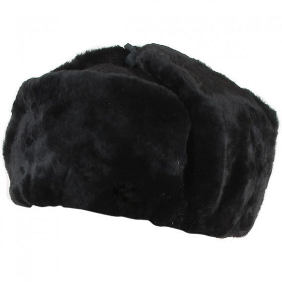 Шапка меховая черная