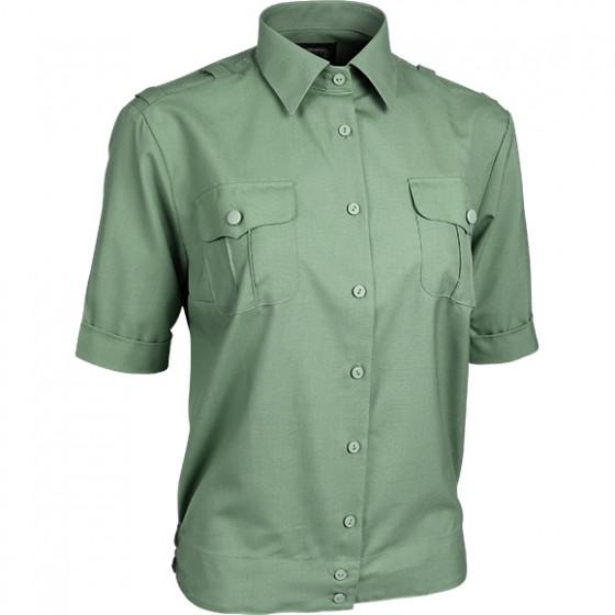 Рубашка форменная женская, короткий рукав, зеленая