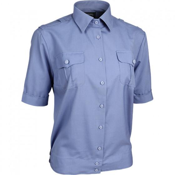 Рубашка форменная женская, короткий рукав, голубая