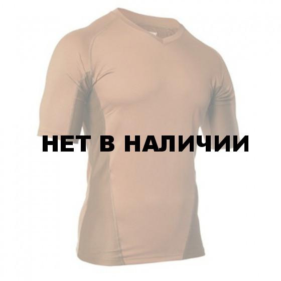 Термобелье футболка EF Shirt Short Sleeve Vneck Coyote Tan BLACKHAWK XL