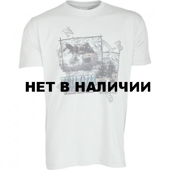 Футболка сувенирная Рафтинг серая