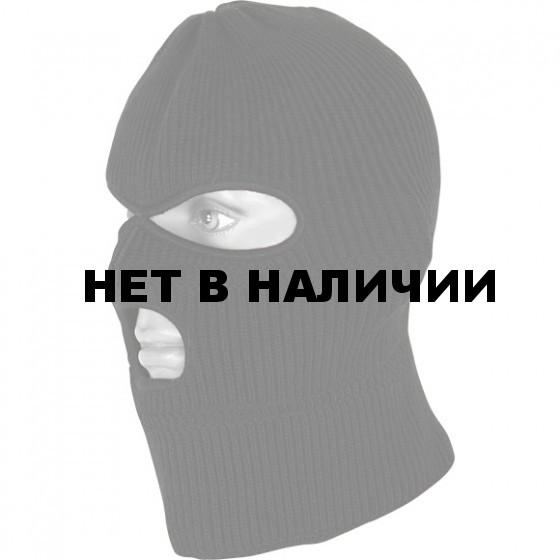 Маска-шапка черная обшитая