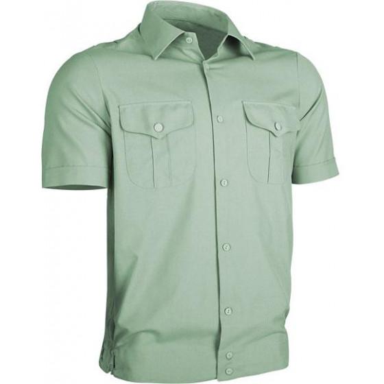 Рубашка форменная, короткий рукав, зеленая