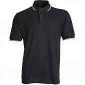 Рубашка Поло stripe черная
