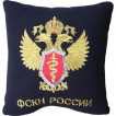 Подушка сувенирная ФСКН России вышитая
