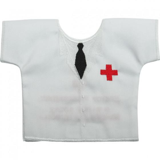 Рубашка-сувенир Доктор рекомендует вышивка
