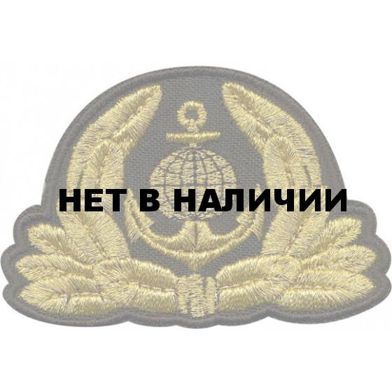 Кокарда Морской флот вышивка люрекс
