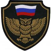 Нашивка на рукав Сова флаг тканая