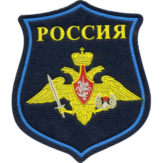 Нашивка на рукав фигурная ВС РФ ВДВ парадная вышивка люрекс
