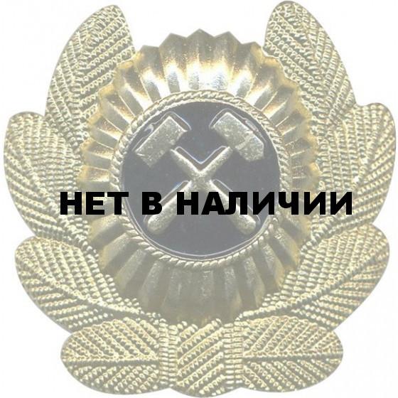 Кокарда ВГСЧ в обрамлении металл