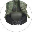 Пояс универсальный РПС/рюкзачный черный 92 см