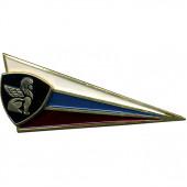 Знак на берет Флаг РФ ВВ сфинкс металл