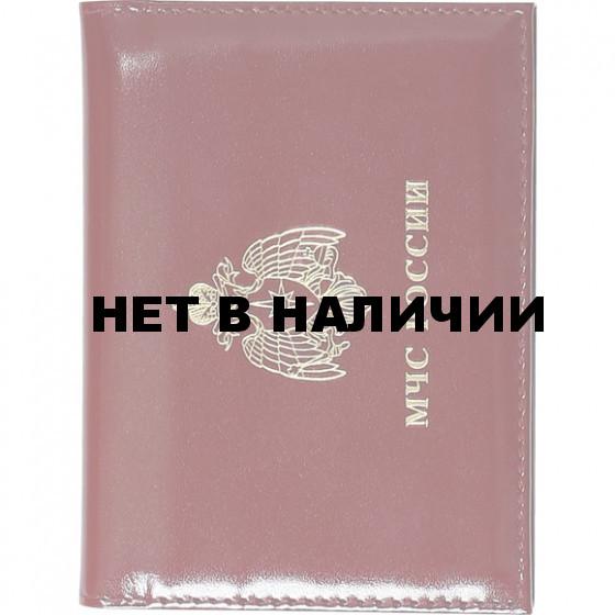 Обложка АВТО МЧС России с металлической эмблемой кожа
