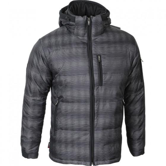 Куртка Stout Primaloft черно-серый меланж