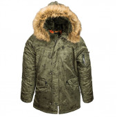 Куртка Slim Fit N-3B Parka night vision camo Alpha Industries