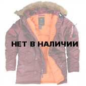 Куртка Slim Fit N-3B Parka Maroon Alpha Industries