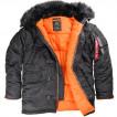 Куртка Slim Fit N-3B Parka Black Alpha Industries