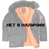 Куртка Slim Fit N-3B Parka Black Alpha Industries