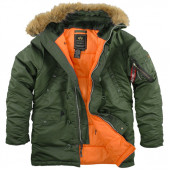 Куртка Slim Fit N-3B Parka Sage Green Alpha Industries