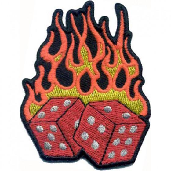 Термонаклейка -0036 Кубики в огне вышивка