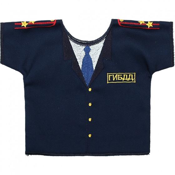 Рубашка-сувенир Полиция ДПС ГИБДД вышивка