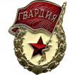 Нагрудный знак Гвардия со звездой томпак
